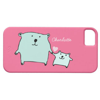 Two Little Love Bears Pink iPhone 5/5s Case