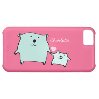 Two Little Love Bears Pink iPhone 5C Case