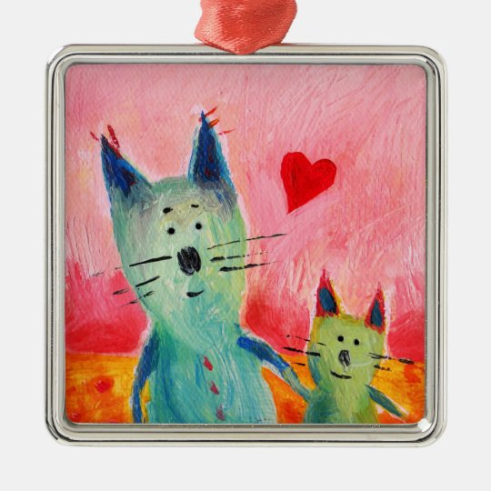 Two Little Love Cats Ornament