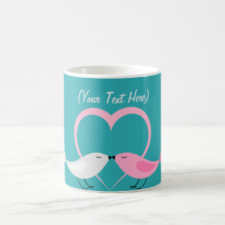 Two Little Lovebirds Personalized Mug