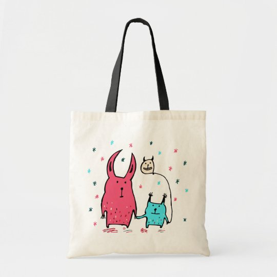 Two Little Monsters Tote Bag