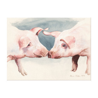 Two Little Piggies 2012 Canvas Print