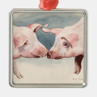 Two Little Piggies 2012 Metal Ornament