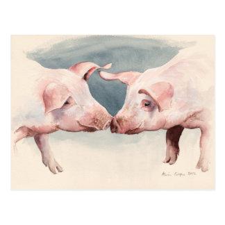 Two Little Piggies 2012 Postcard