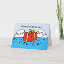 Two Little Sheep Birthday Gift Card