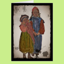 Two Little Sisters 1906 Card