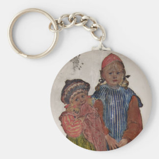 Two Little Sisters 1906 Keychain