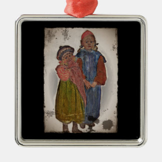 Two Little Sisters 1906 Metal Ornament