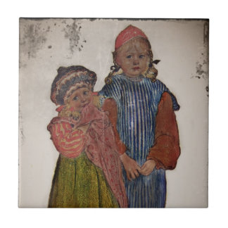 Two Little Sisters 1906 Tile