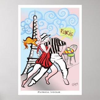 Two Little Tangueros in Paris Tango Poster