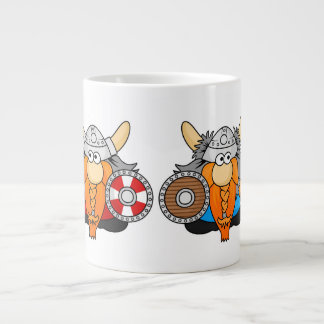 Two Little Vikings Large Coffee Mug