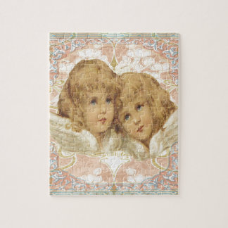 Two Little Vintage Angels Jigsaw Puzzle