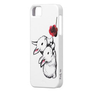 Two Little White Rabbits iPhone 5 Case