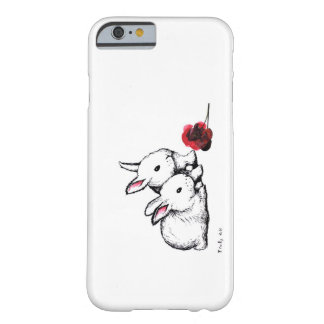 Two Little White Rabbits iPhone 6 Case