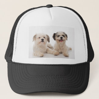 Two located dogs trucker hat