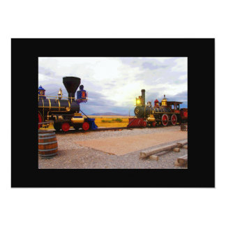 Two Locomotives Card