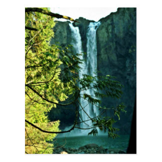 Two Long Waterfalls Flowing Together Postcard