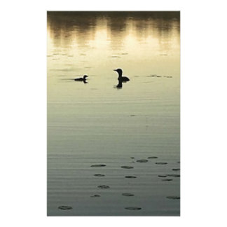 Two loons stationery