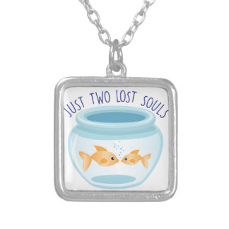 Two Lost Souls Square Pendant Necklace