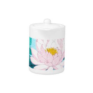 Two Lotus Flowers Teapot