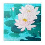 """Two Lotus Flowers Tile<br><div class=""""desc"""">art</div>"""