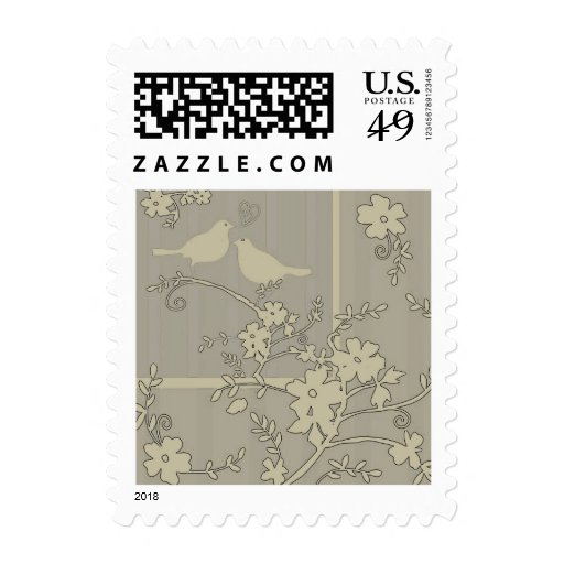 Two Love Birds ~ ~ Postage Stamps