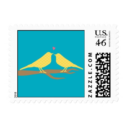 Two Lovebirds Stamp