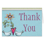 Two Lovebirds Thank You Card