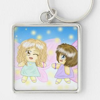Two Lovely Fairy Best-Friends Keychain