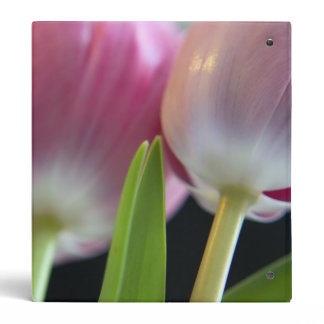 Two Lovely Pink Tulips Binder