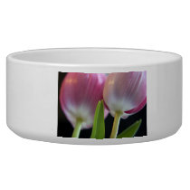 Two Lovely Pink Tulips Bowl