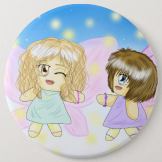 Two Lovely Sisters/Friends Angels 6inch Button