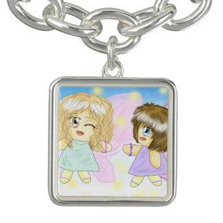 Two LovelyFairies BestFriends 4Ever Charm Bracelet