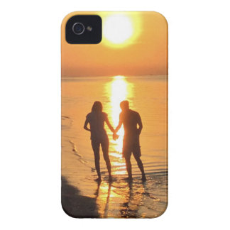 Two lovers at sunrise iPhone 4 case
