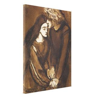 Two Lovers by Dante Gabriel Rossetti Canvas Print