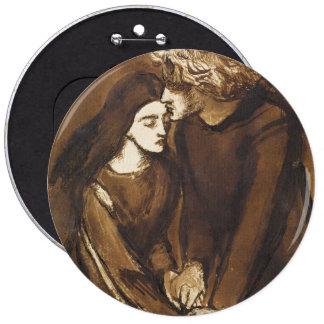 Two Lovers by Dante Gabriel Rossetti Pinback Button