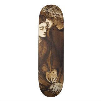 Two Lovers by Dante Gabriel Rossetti Skateboard Deck