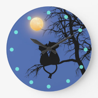 Two Lovers Cat Round Wall Clock