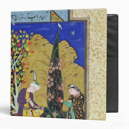 Two Lovers in a Flowering Orchard 3 Ring Binder