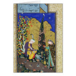 Two Lovers in a Flowering Orchard Greeting Card