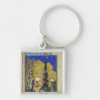 Two Lovers in a Flowering Orchard Keychain