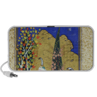 Two Lovers in a Flowering Orchard Portable Speakers