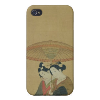 Two Lovers under an Umbrella iPhone 4 Cover