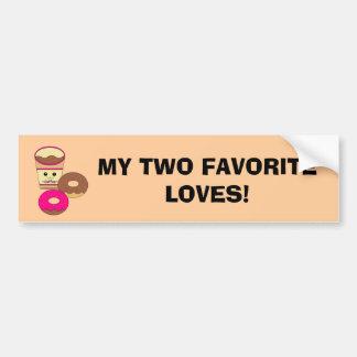 Two Loves Car Bumper Sticker