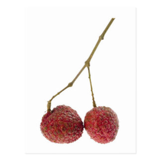 Two lychees postcard