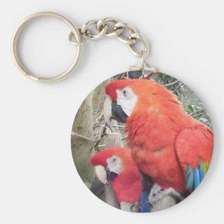 Two Macaws Keychain
