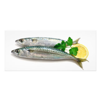 two mackerel with lemon rack card
