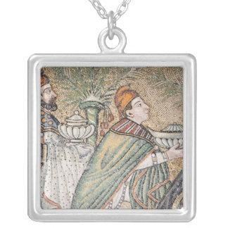 Two Magi Square Pendant Necklace