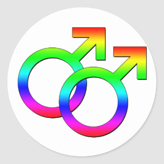 Two Male Signs Sticker