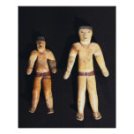Two Male Statuettes, Recuay Culture Poster